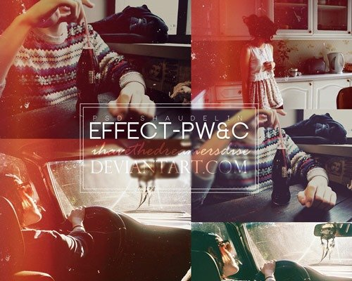 effect pwc 那些让照片更美丽的Photoshop Action脚本