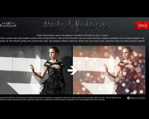 bokeh thumb 那些让照片更美丽的Photoshop Action脚本