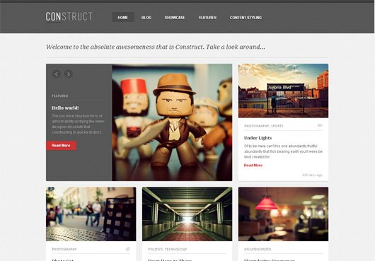 Construct a Responsive WordPress Blog Folio Theme