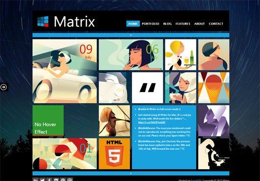 Matrix Responsive Tile Based Template