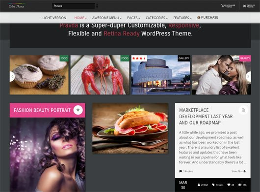 Pravda Retina Responsive WordPress Blog Theme