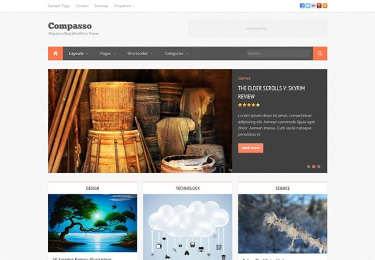Compasso - Masonry Magazine Theme