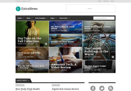 ExtraNews Responsive News and Magazine Theme