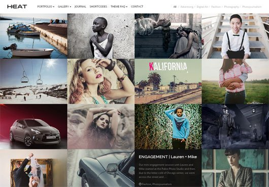Heat Premium Portfolio WordPress Theme