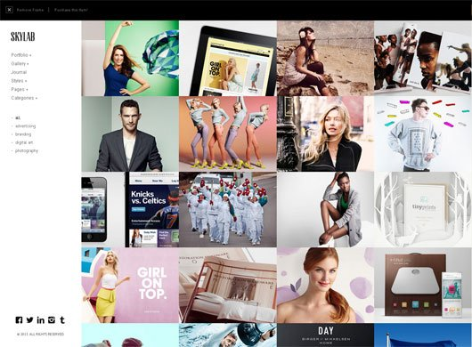 Skylab Portfolio  Photography WordPress Theme