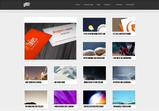 GRID NEW FREE WORDPRESS THEME IS HERE
