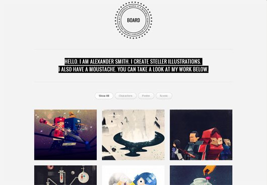 Board WordPress Portfolio Theme