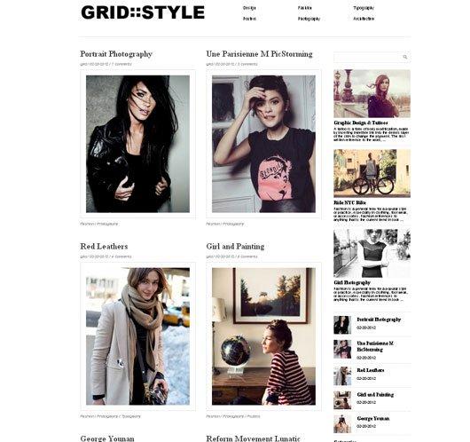 Grid Style Theme