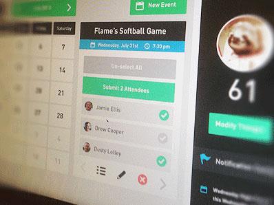 用户后台界面设计 profile 简约的数据数展示 app界面 plan2.