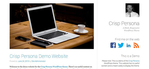 Crisp Persona clean highlight content wordpress