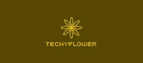 花logo - techyflower