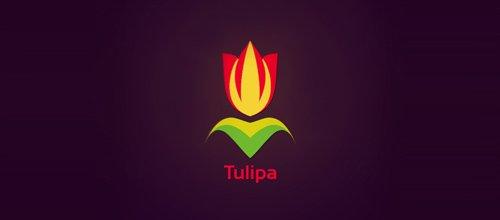 花logo - Tulipa logo
