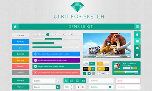 82个精品扁平化设计的免费UI KIT素材 - 设计达人