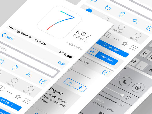 UI设计素:材show_ios7_gui