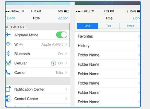 UI设计素:材INTRO-iOS7
