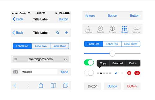 UI设计素:材iOS-7-UI-Kit-Lite