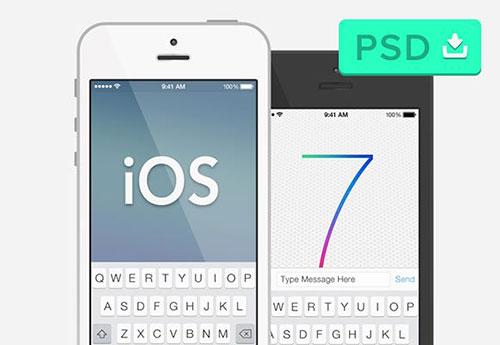 UI设计素:材iphone5-ios7-mockup