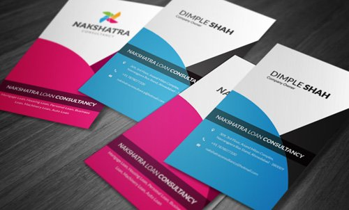 Loan Consultancy Business Card