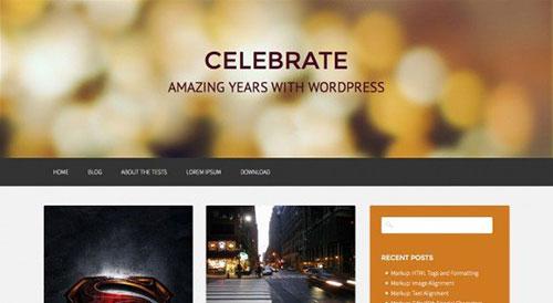 免费wordpress杂志主题Celebrate