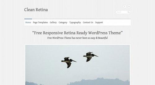 免费wordpress杂志主题Clean Retina