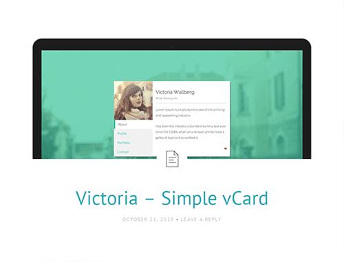 Bootstrap主题 - victoria
