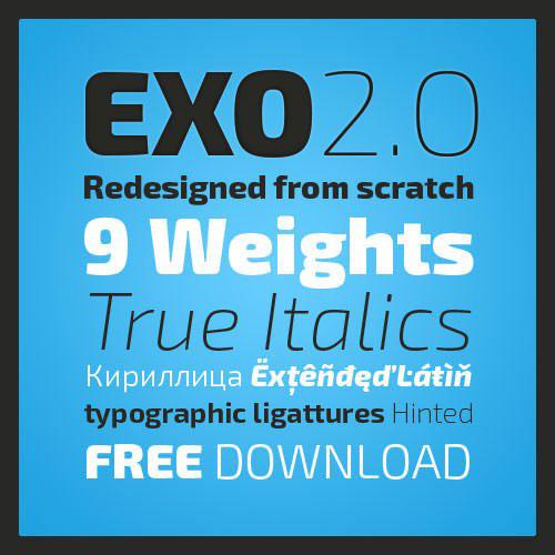 43个高品质免费英文字体收集(12月)