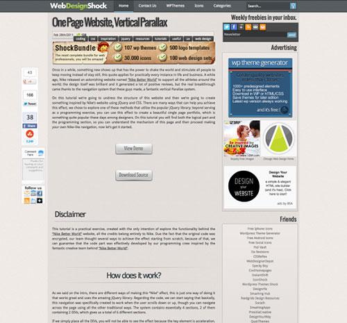 网页视差滚动教程