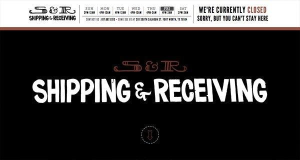 Shipping & Receiving Bar