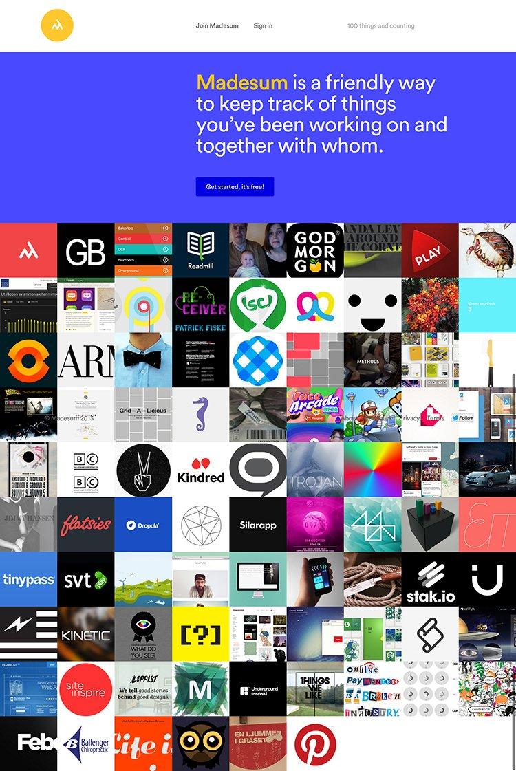 Madesum扁平化网页设计
