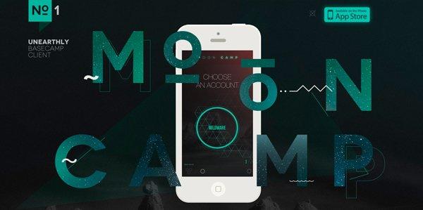 MoonCamp扁平化网页设计