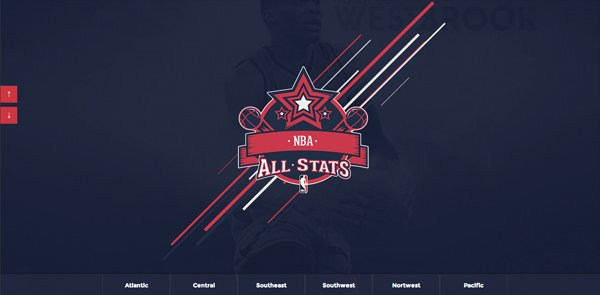 NBAllstats扁平化网页设计