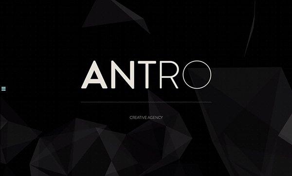 ANTRO扁平化网页设计