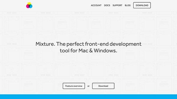 Mixture扁平化网页设计