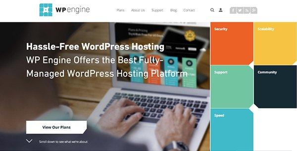 WPEngine扁平化网页设计