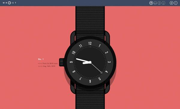 Wrist扁平化网页设计