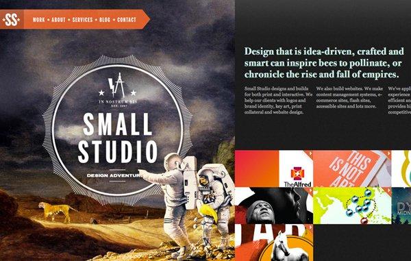 Small Studio扁平化网页设计
