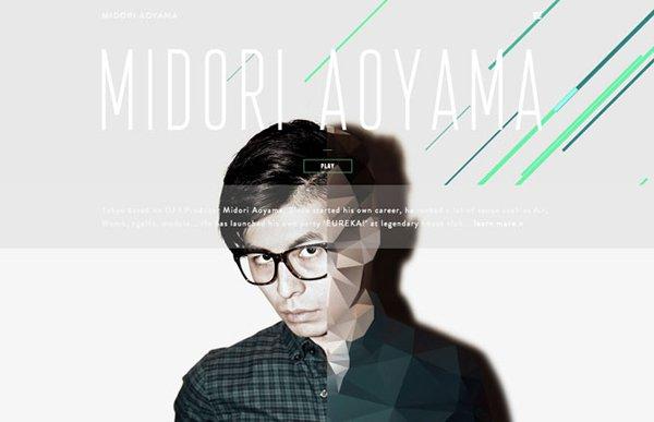 MIDORI AOYAMA扁平化网页设计