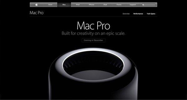 黑色网页设计Apple Mac Pro