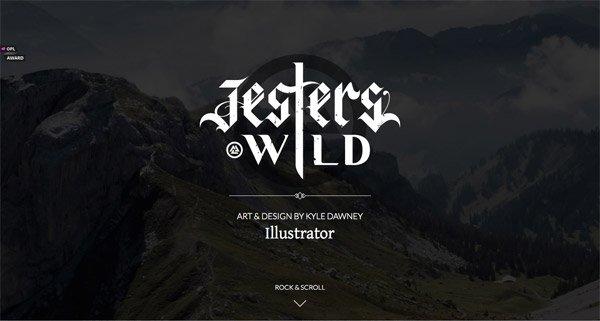 黑色网页设计JestersWild