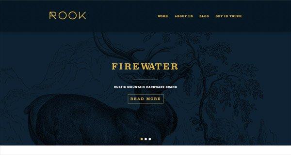 黑色网页设计Rook