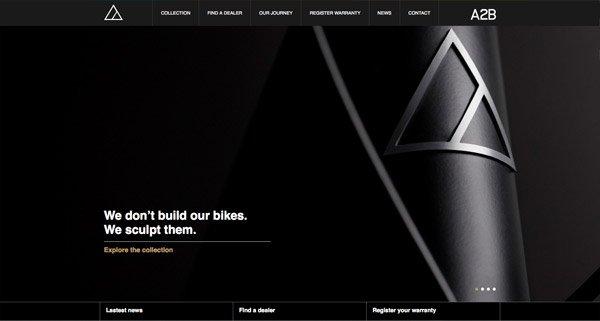 黑色网页设计A2B