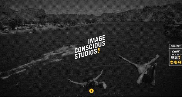 黑色网页设计Image Conscious Studios