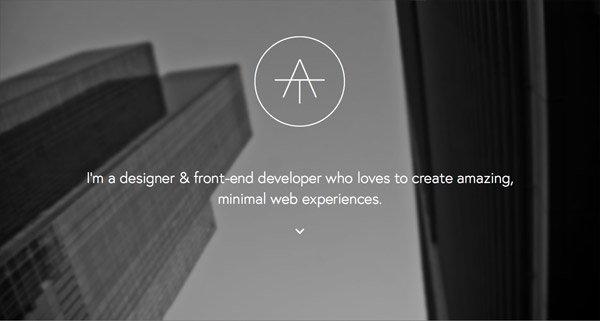 黑色网页设计Alan Tippins