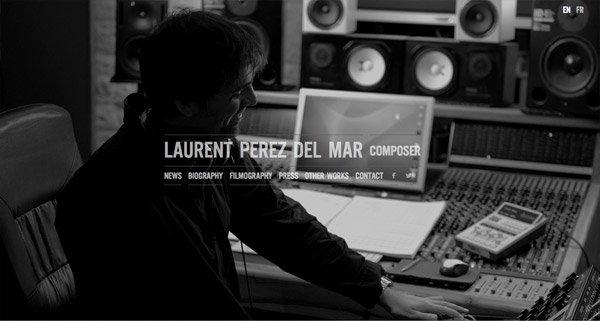 黑色网页设计Laurent Perez Del Mar