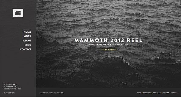 黑色网页设计Mammoth Media