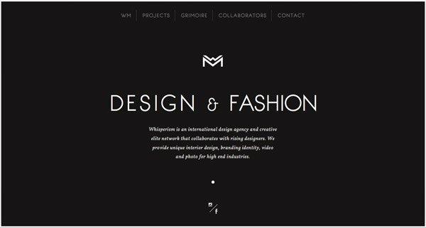 黑色网页设计Whisperism