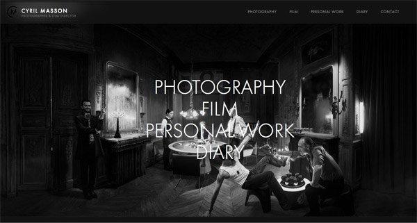 黑色网页设计Cyril Masson