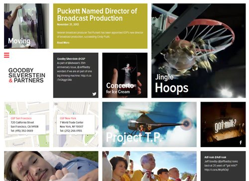网格布局网页 Goodby Silverstein & Partners