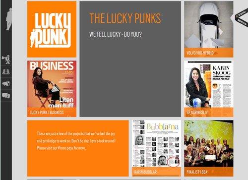 网格布局网页 Lucky Punk