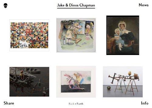 网格布局网页 Jake & Dinos Chapman
